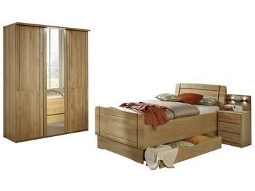 Schlafzimmereinrichtung aus Erle 120x200 (4-teilig)