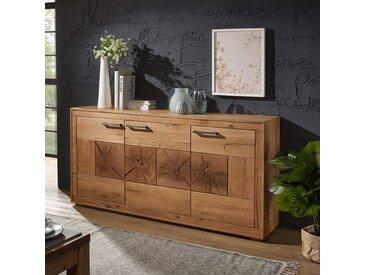 Wohnzimmer Sideboard aus Wildeiche Massivholz 170 cm