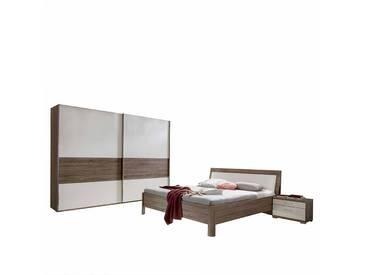 Schlafzimmer Einrichtung in Weiß Trüffeleiche (4-teilig)
