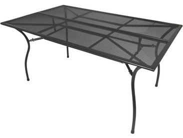 Stahl Terrassentisch in dunkel Grau 150 cm breit