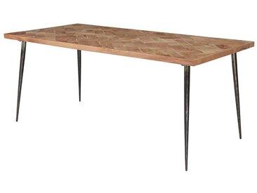 Loft Esstisch aus Akazie Massivholz Eisen