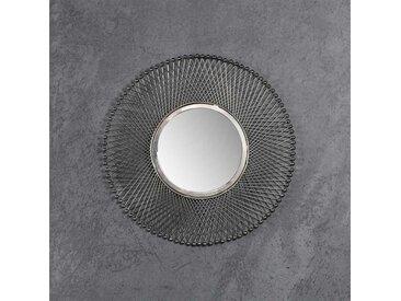 Dielenspiegel rund mit Metallrahmen modern