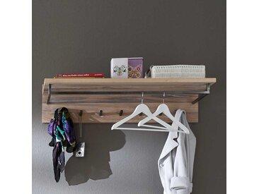 Wandgarderobe aus Eiche Massivholz White Wash