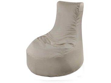 Outdoor Sitzsack mit Rückenlehne Grau