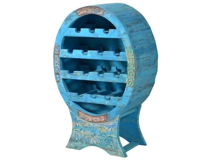 Flaschenregal in Blau Shabby Chic