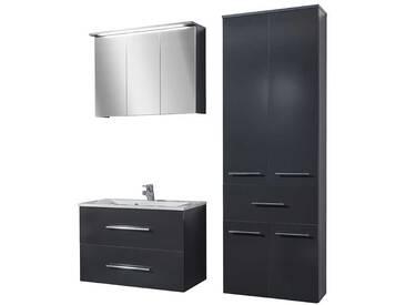 Bad Kombination in Anthrazit mit Spiegelschrank (3-teilig)