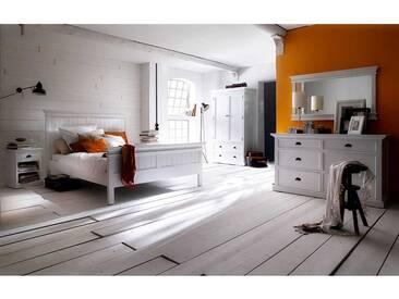 Schlafzimmereinrichtung in Weiß Landhausstil (6-teilig)