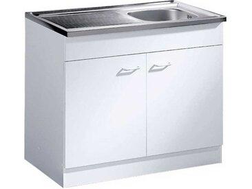 Küchenschrank mit Edelstahl-Spüle Edelstahlspühle