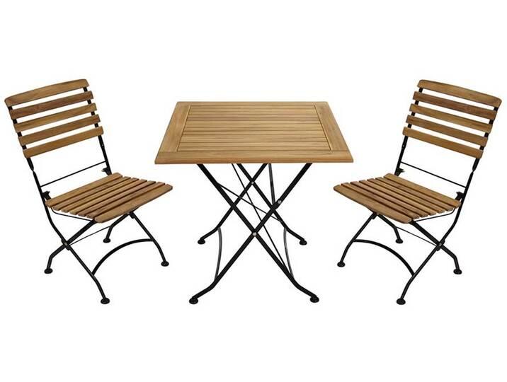 Gartenmöbel Sets - Balkon Sitzgruppe aus Teak Massivholz klappbar (3 teilig)  - Onlineshop Moebel.de