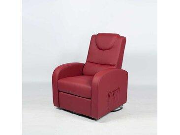 TV Sessel in Bordeaux Rot Elektrisch mit Aufstehhilfe