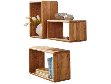 Wandregal Set aus Wildeiche Massivholz kaufen (3-teilig)
