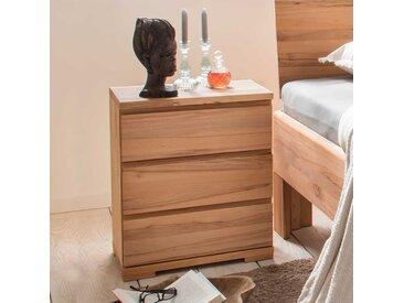 Bettkommoden Set aus Kernbuche Massivholz 50 cm breit