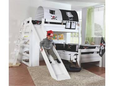 Etagenbett Mit Rutsche Für Zwei : Möbilia etagenbett mit rutsche buche massiv natur lackiert