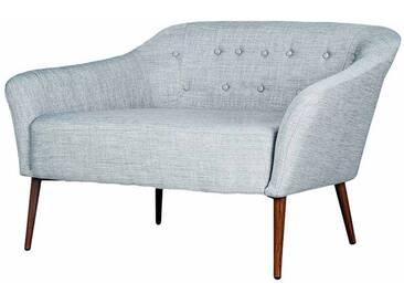 Retro Couch in Hellgrau Stoff