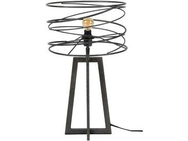 Spiralförmige Tischleuchte in Anthrazit Metall