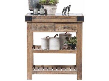 Arbeitstisch für Küche Ulme Recyclingholz