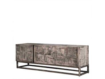 Fernsehboard im Loft Design Mangobaum Massivholz