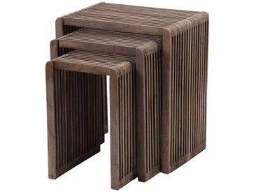 Beistelltisch Set aus Teak Massivholz modern (3-teilig)