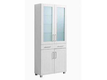 Badschrank in Weiß Glastüren