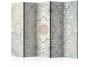 Trennwand Paravent mit Mandala Muster Grau