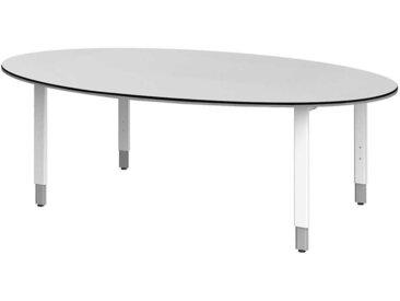 Ovaler Konferenztisch in Weiß 220 cm