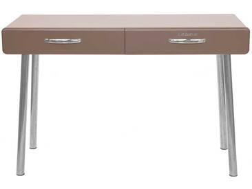 PC Tisch in Grau lackiert Retro