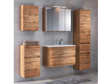Design Badezimmer Set in Wildeichefarben modern (5-teilig)