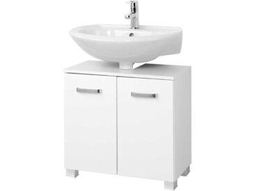 Waschtischunterschrank in Hochglanz Weiß
