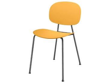 2 Stühle in Apricot Retro Design (2er Set)