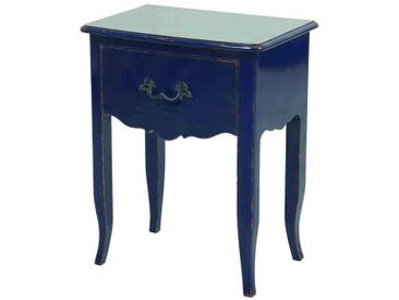 Shabby Kommode in Blau Barock Design