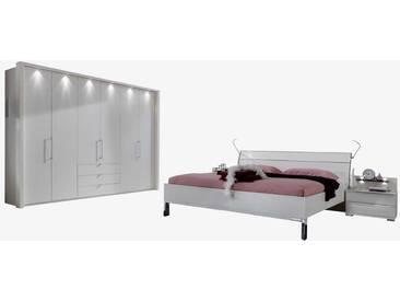 Schlafzimmer Einrichtung in Weiß Beleuchtung (4-teilig)
