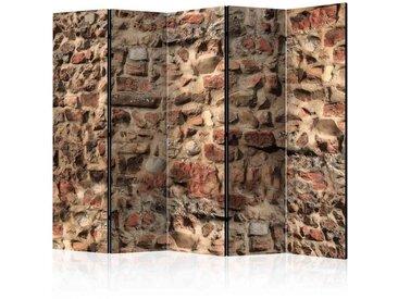 Spanische Trennwand mit Mauer Motiv Ziegel Rot und Braun