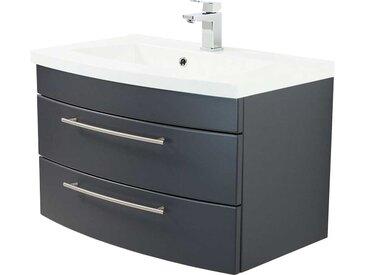 Waschtischunterschrank in Anthrazit Einlass-Waschbecken