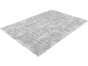 Retro Teppich in hell Grau und Silberfarben 1 cm hoch