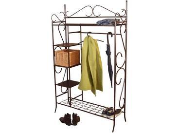Eisen Garderobe in Braun Landhaus Design