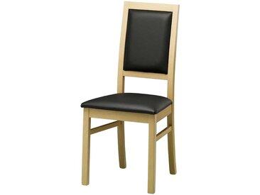 Holzstuhl aus Buche Massivholz Schwarz