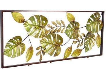 Wanddeko aus Metall Blätter Motiven