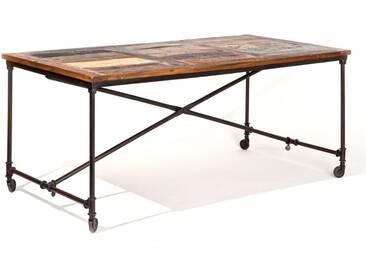 Ungewöhnlicher Esstisch mit Rollen Vintage Design