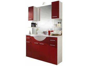 Waschtisch Kombination in Rot Weiß (4-teilig)