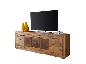 tv board aus wildeiche massivholz rustikalen look
