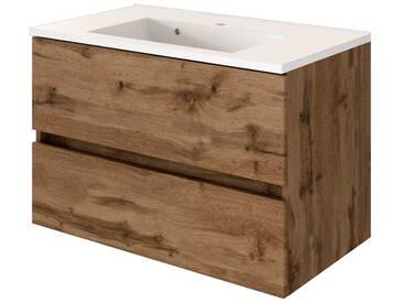 Bad & Küche Waschtisch Waschbeckenunterschrank Badezimmer Möbel Landhaus Holz 90 Cm
