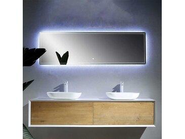 Design Badezimmer Set mit Doppelwaschtisch Weiß und Esche Dekor (2-teilig)