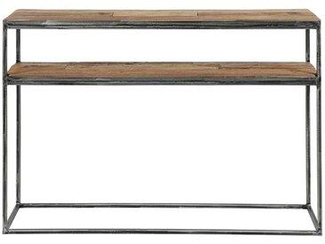 Flur Konsolentisch aus Recyclingholz und Stahl 110 cm breit