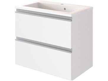 Design Waschtisch in Weiß zwei Schubladen