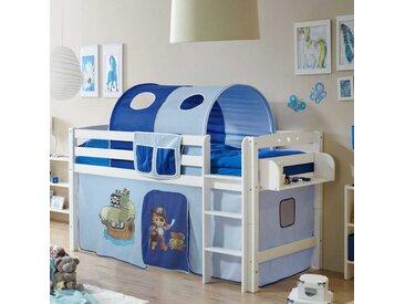 Kinderhochbett im Piraten Design blau