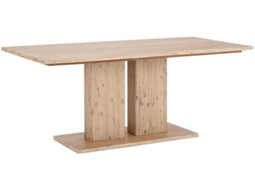 Säulentisch aus Akazie Massivholz 200 cm breit