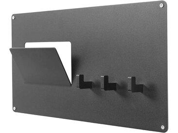 Wandhaken in Schwarz Stahl