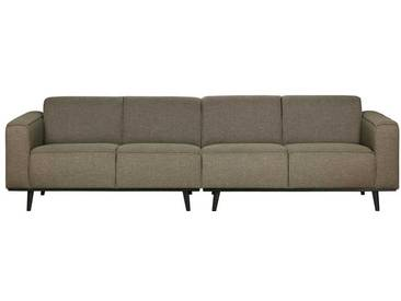 Retro Couch in Grün meliert Webstoff