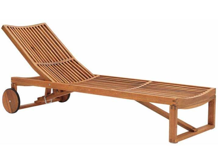 Rollliege aus Akazie Massivholz Garten Braun