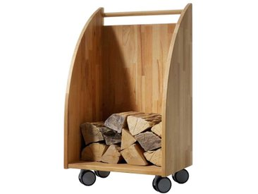 Kaminwagen aus Kernbuche Massivholz für Holz